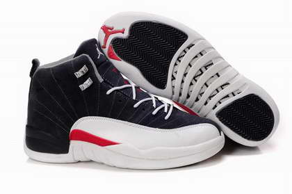 Air Jordan 12 Shoes Black/Red/White - Click Image to Close