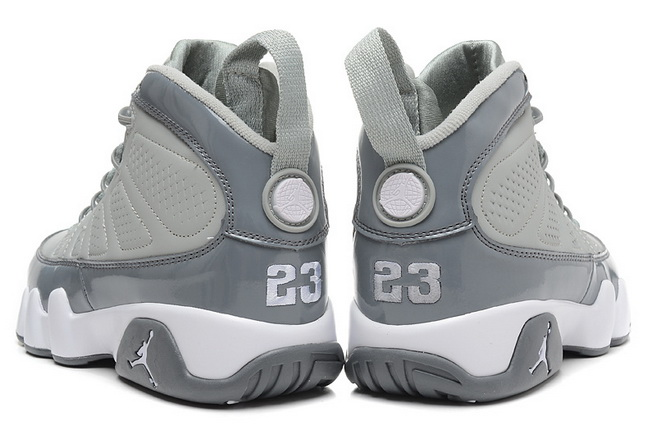 Air Jordan 9 RETRO Shoes Silver/White