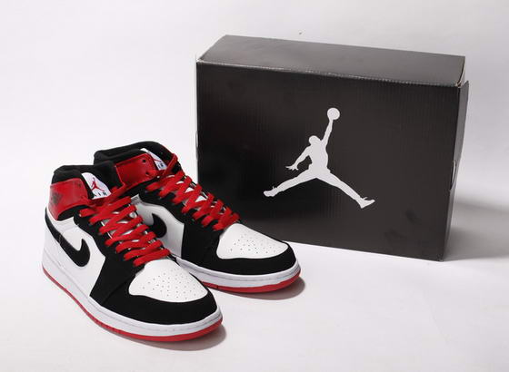 Air Jordan I New Shoes White/Black/Red