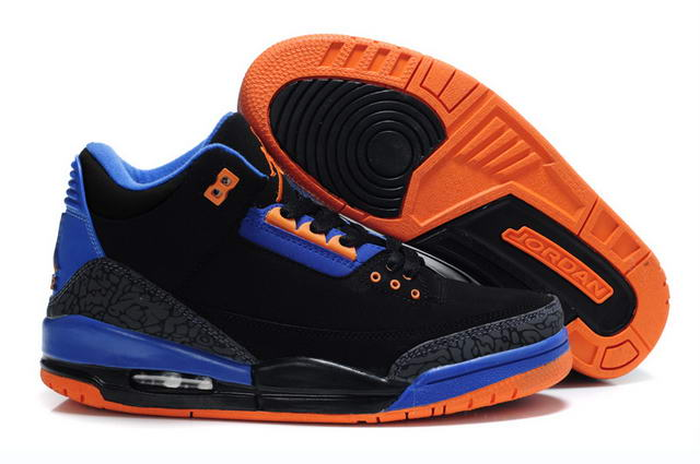 Air Jordan III Shoes blue/black orange