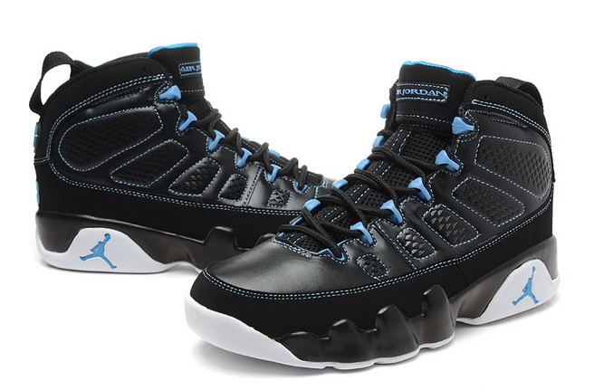 Air Jordan IX Shoes Black/Blue - Click Image to Close
