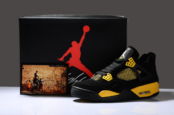 Air Jordan IV New Shoes Yellow/Black