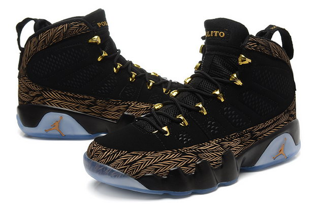Air Jordan 9 IX Shoes Black/Brown