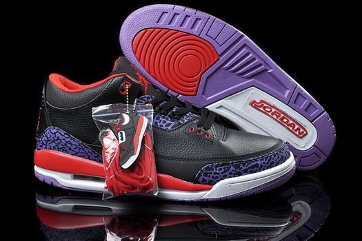 Air Jordan 3 Shoes Black/Red