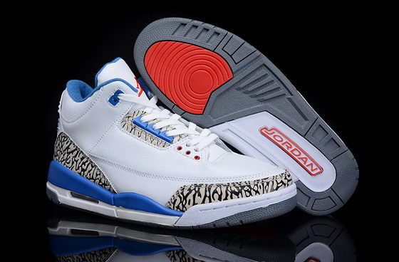 Air Jordan 3 Shoes White/Blue/Black