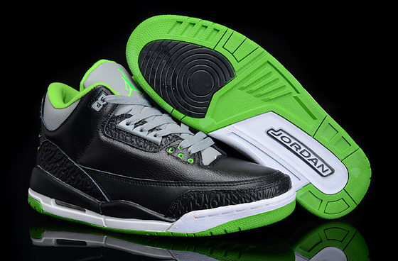 Air Jordan 3 Shoes Black/Green