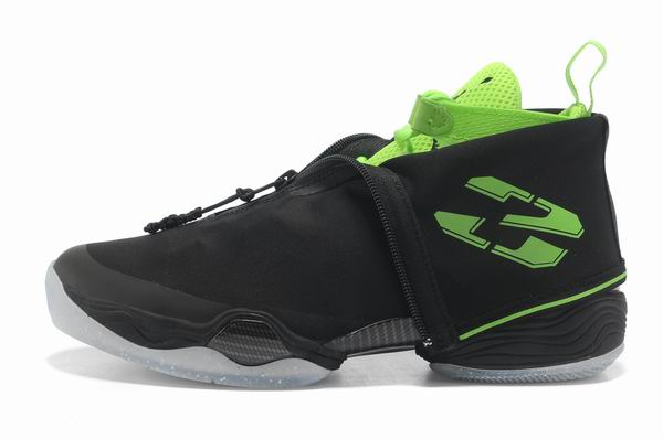 Air Jordan 28 Shoes Black/Green