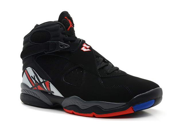 Air Jordan 8 Shoes Black/Red/Blue