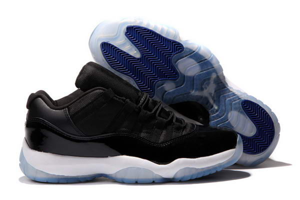 Air Jordan 11 Low Shoes Black/Blue