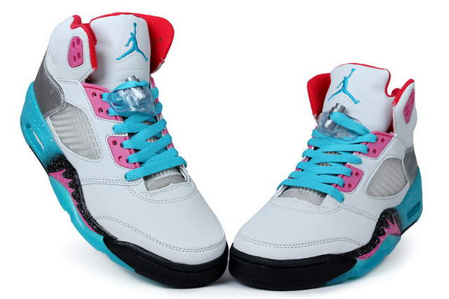 Air Jordan 5 Miami Shoes Blue/White