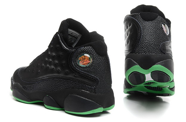 Air jordan 13 Retro Shoes Black/green