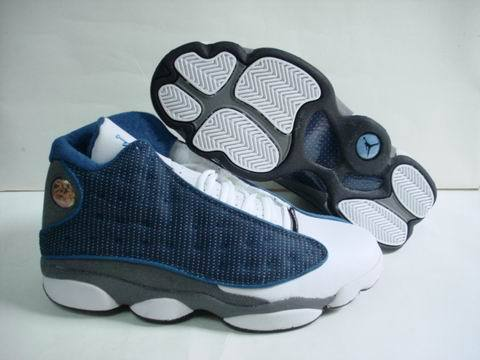 Air jordan 13 Retro Shoes Blue/White