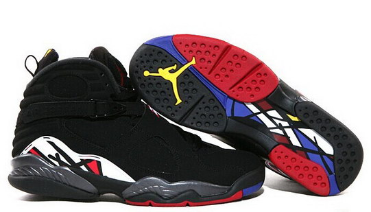 Air Jordan 8 Retro Shoes Black/Red