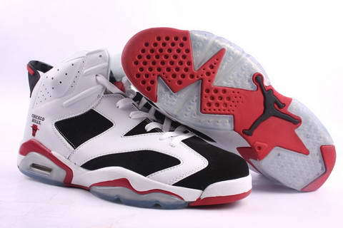Air Jordan 6 Retro Shoes Red/White/Black