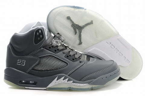 Air Jordan 5 Retro Shoes Silver