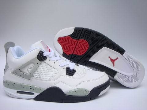 Air Jordan 4 Retro Shoes White/Black