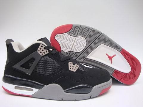 Air Jordan 4 Retro Shoes Black/Red