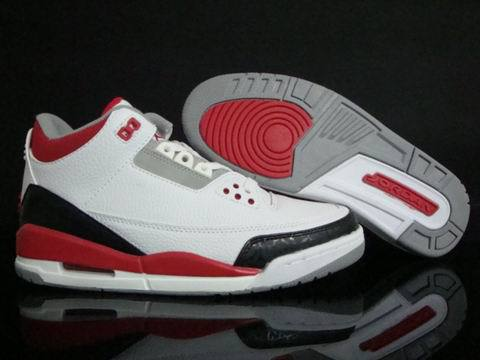 Air Jordan 3 2013 release Shoes White/Red/Black