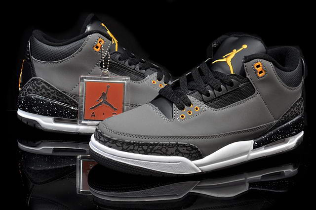 AIR JORDAN III (3) fear pack Shoes Dark gray/Black/Orange