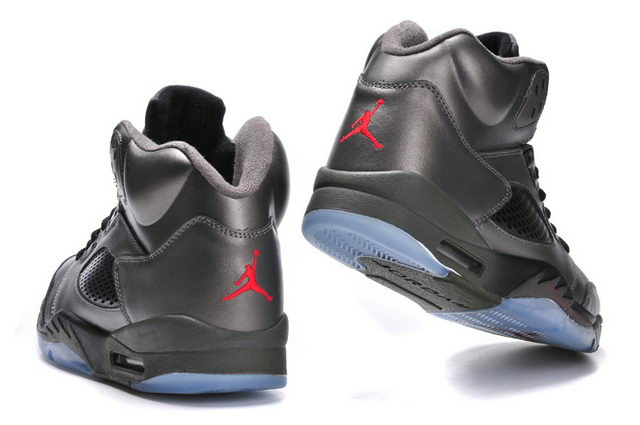 Air Jordan 5 Shoes Silver/black/red