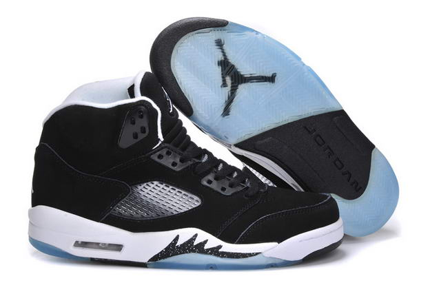 Air Jordan 5 OREO Releases Shoes Black/Cool Grey White