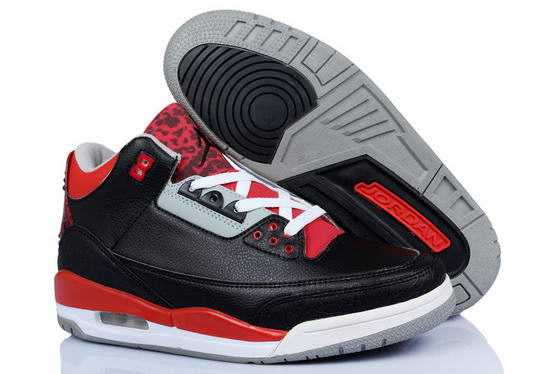 Air Jordan 3 crimson Shoes black/red