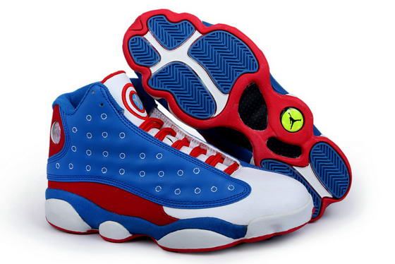 Air Jordan Captain America Shoes blue/red/white