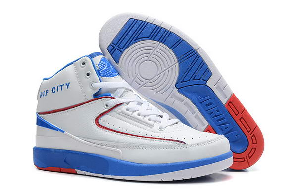 Air Jordan 2 II Retro Shoes white/blue/red