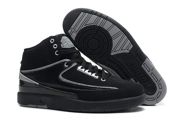 Air Jordan 2 II Retro Shoes black/gray