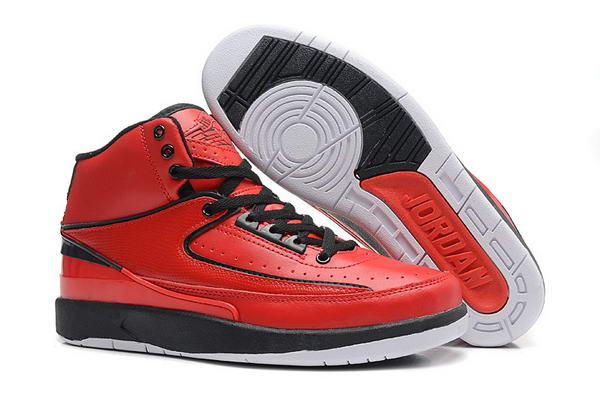 Air Jordan 2 II Retro Shoes fushion Red/black/white