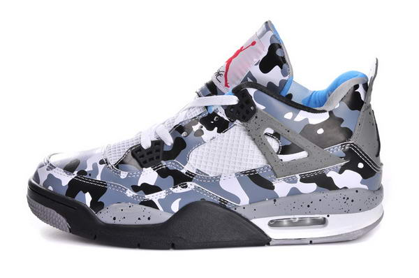 Air Jordan 4 (IV) Army Camouflage Shoes Blue Army/black white red