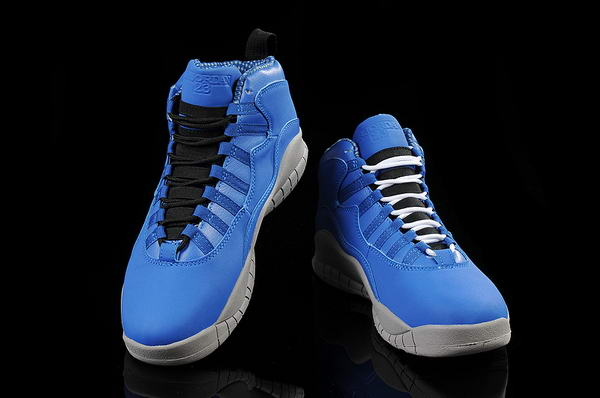 Air Jordan 10 (X) Retro Shoes blue/gray