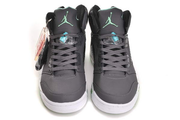 Air Jordan 5 (V) Retro Shoes cool gray/white green