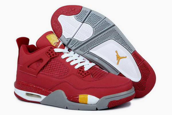 Air Jordan 4 (IV) Retro Fire Red Shoes Dark red/white yellow