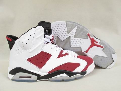 Air Jordan 6 Carmine Shoes white/red black