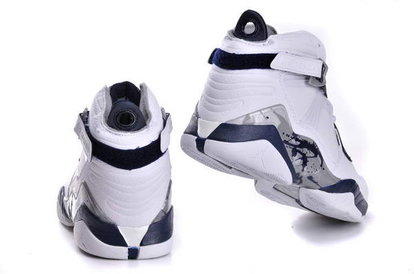 Air Jordan 8 VIII Retro Shoes white/dark blue black