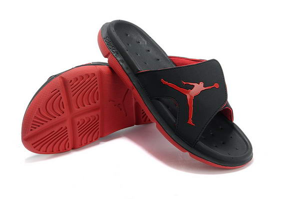 Air Jordan Sandals Shoes black red
