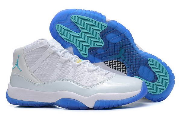 Air Jordan 11 (XI) Retro Shoes white/gamma blue