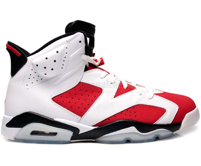 AIR JORDAN 6 Retro Carmine Shoes Red/white black
