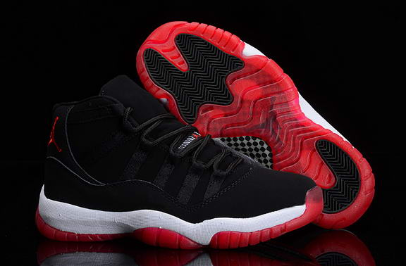 Air Jordan 11 Retro Shoes Black/red white