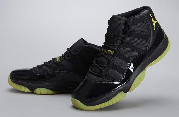 Air Jordan 11 Retro Shoes Black/Light green
