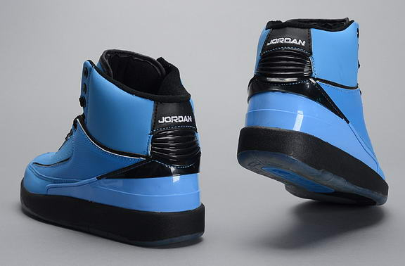 Air Jordan 2 Retro Shoes Blue/black