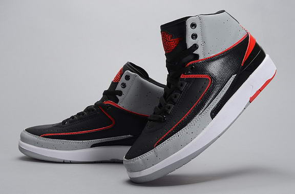 Air Jordan 2 INFRARED 23 Shoes Black/Infrared 23 Pure Platinum White