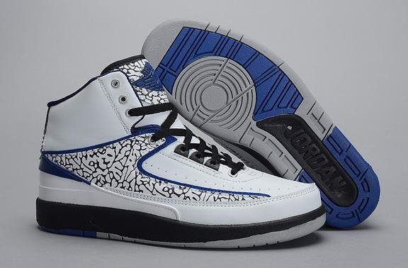 Air Jordan 2 DARK CONCORD Shoes White/Dark Concord Black Wolf Grey