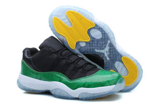 Air Jordan 11 Low Green Sneakerin Green/black