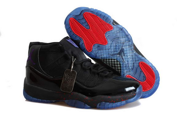 Air Jordan 11 Retro Transformers Shoes Black/blue fire red