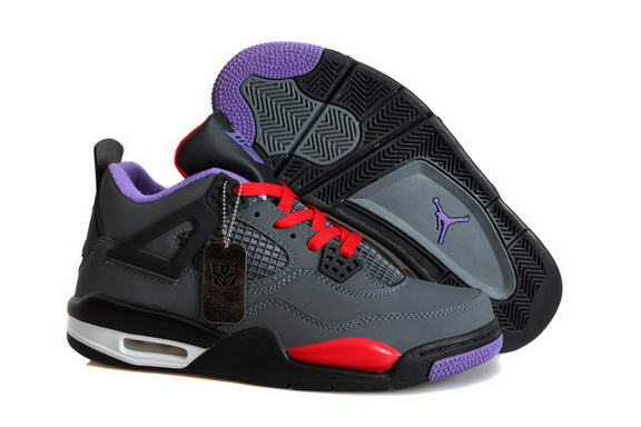 Air Jordan 4 Retro Transformers Shoes Black/dark gray fire red white