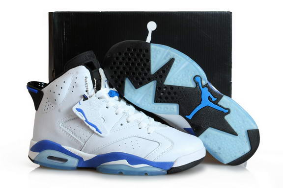 Air Jordan 6 Sport Blue Shoes Sport Blue/white