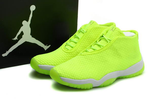 Air Jordan Future Glow Shoes light green/white