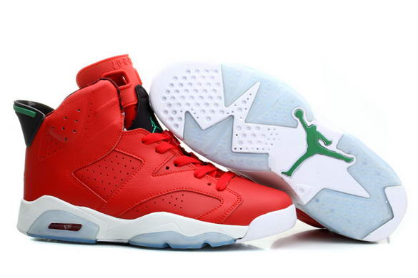 Air Jordan 6 History of Jordan Shoes Fire red/black green